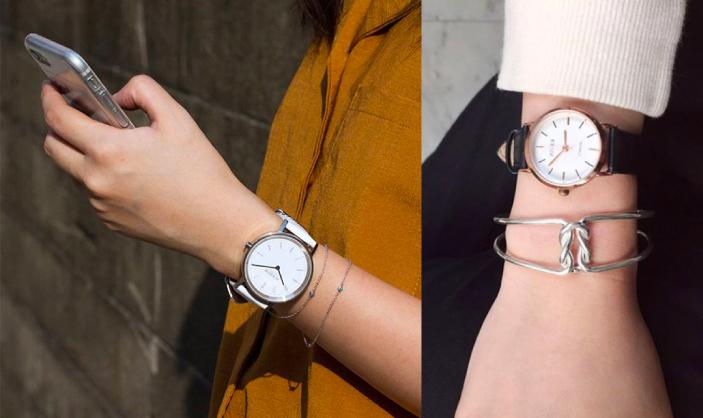 單品手錶與IR特色手鍊搭配,呈現個人知性與美感